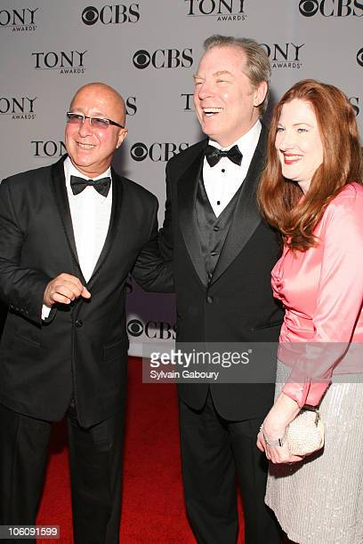 Paul Shaffer Michael McKean and Annette O'toole during 60th Annual Tony Awards Arrivals at Radio City Music Hall in New York City New York United...