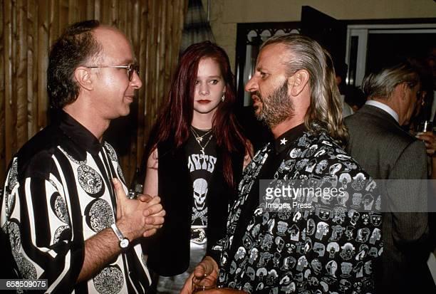 Paul Shaffer, Ringo Starr and Ringo's daughter Lee Starkey circa 1989 in New York City.