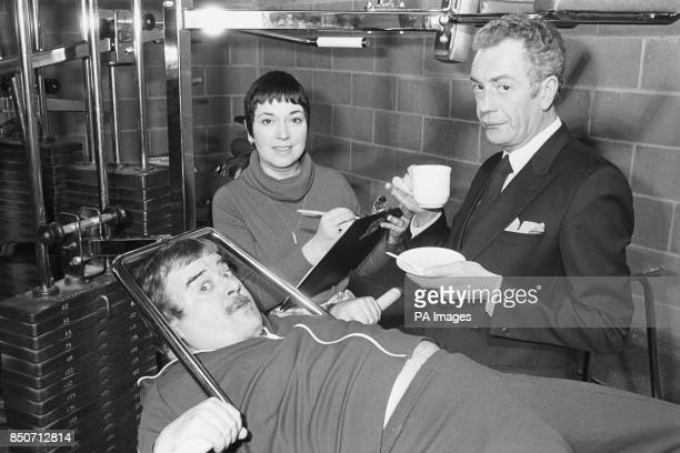 Paul Shane Ruth Madoc and Barry Howard stars of TV comedy series HideHi at the Robin Cousins Sports Centre in Avonmouth where they launched a scheme...