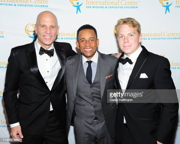 Paul Shapiro, Hill Harper and Nate Shapiro attend ICMEC Gala for Child Protection at Gotham Hall on May 2, 2019 in New York City.