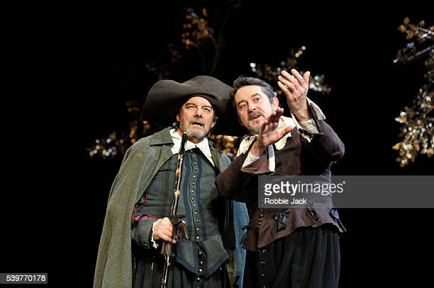 Paul Shelley as Duke Senior and Adrian Lukis as Jacques in William Shakespeare's As You Like It directed by Stephen Unwin at the Rose Theatre...