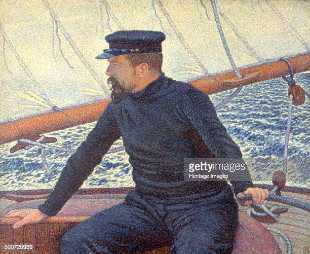 Paul Signac on his boat Private Collection