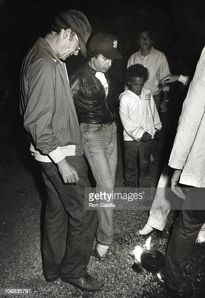 Paul Simon and Buck Henry during Paul Simon and Buck Henry sighting during a Bastille Day Celebration July 14 1979 at George Plimpton's Rented House...