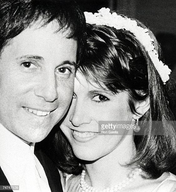Paul Simon and Carrie Fisher at the Paul Simon's Central Park West Apartment in New York City New York