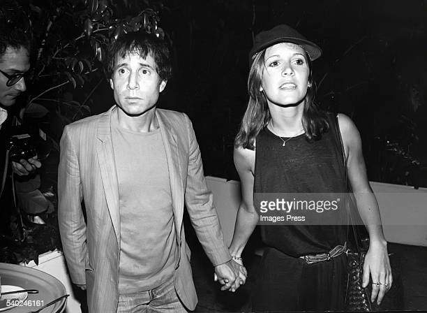 Paul Simon and Carrie Fisher circa 1980 in New York City