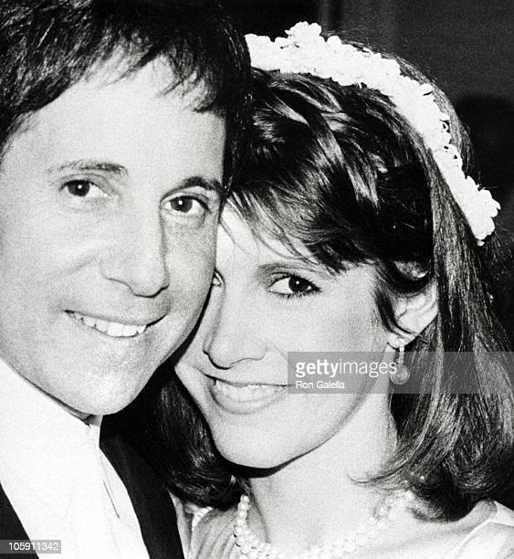 Paul Simon and Carrie Fisher during Paul Simon and Carrie Fisher Wedding August 16 1983 at Paul Simon's Central Park West Apartment in New York City...