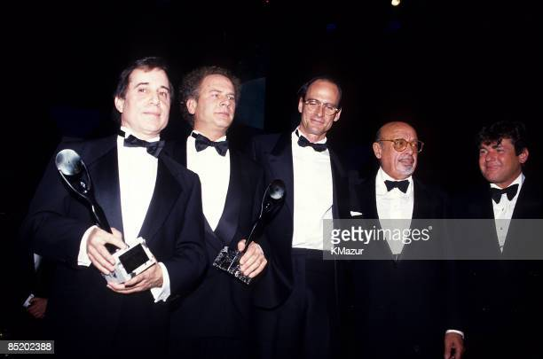 Paul Simon Art Garfunkel James Taylor Ahmet Ertegun and Jann Wenner