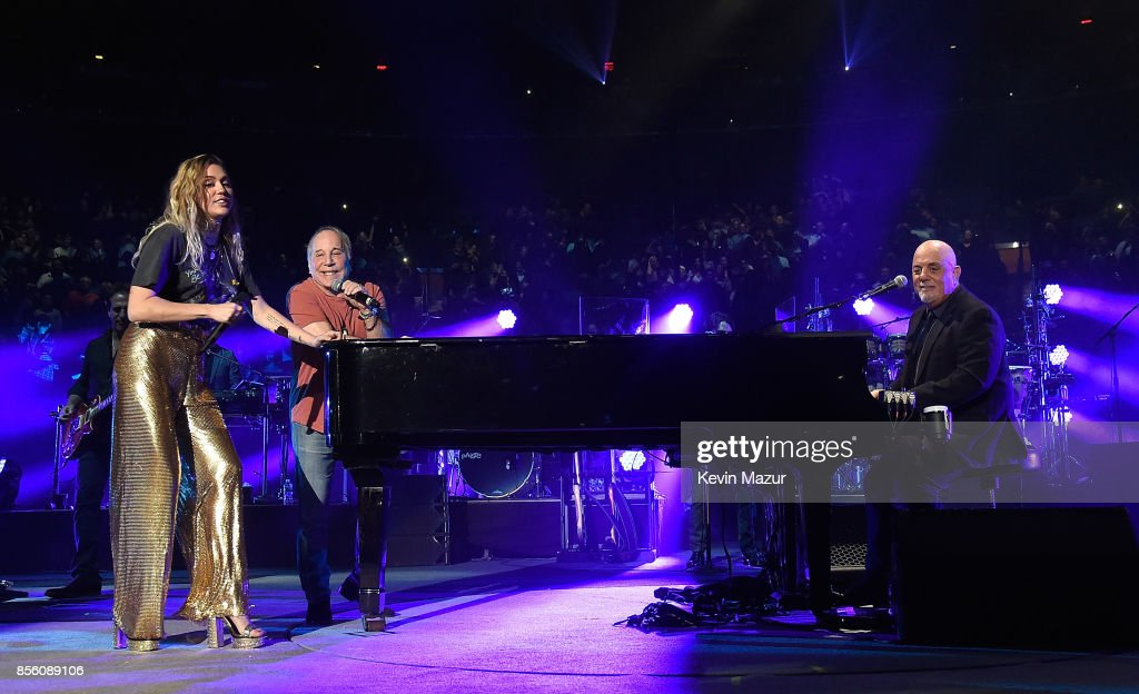 Paul Simon, Miley Cyrus And Billy Joel Perform At Madison Square Garden On  September 30