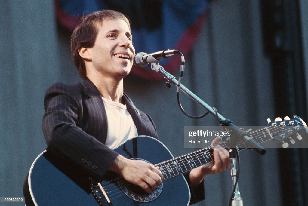 Paul Simon performs at Berkeley's Greek Theater during the Bread and Roses Music Festival in 1981.