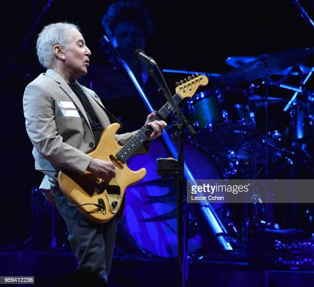 Paul Simon performs during the opening night of his Homeward Bound farewell tour on May 16 2018 at Rogers Arena in Vancouver Canada