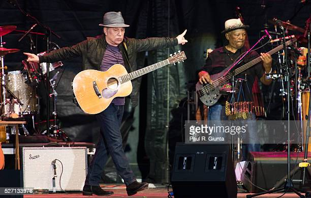 Paul Simon performs on stage at the Beale Street Music Festival on May 1 2016 in Memphis Tennessee