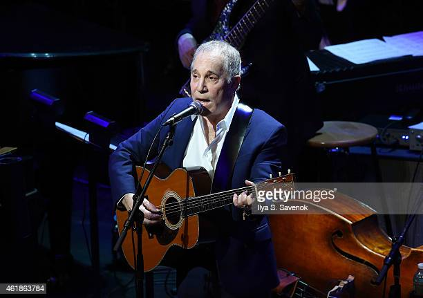 Paul Simon performs onstage during The Nearness Of You Benefit Concert at Frederick P Rose Hall Jazz at Lincoln Center on January 20 2015 in New York...