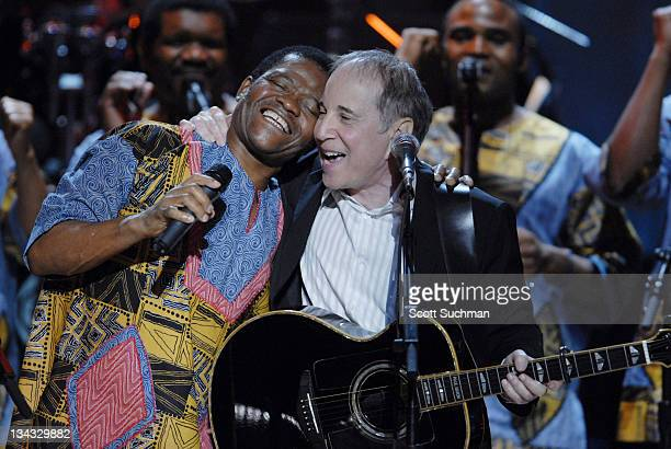 Paul Simon performs with Ladysmith Black Mambazo during The Library of Congress Gershwin Prize for Popular Song Celebrates Paul Simon at The Warner...
