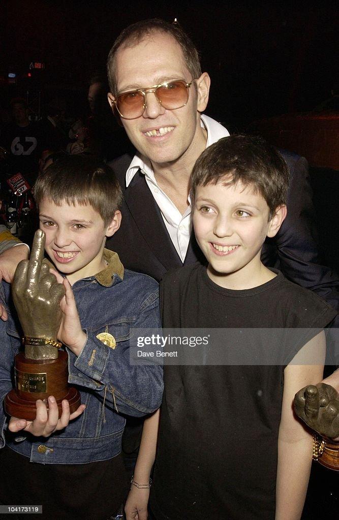 Paul Simonon (the Clash) And Children, Nme Carling Awards 2003, At Po Na Na, Hammersmith, London