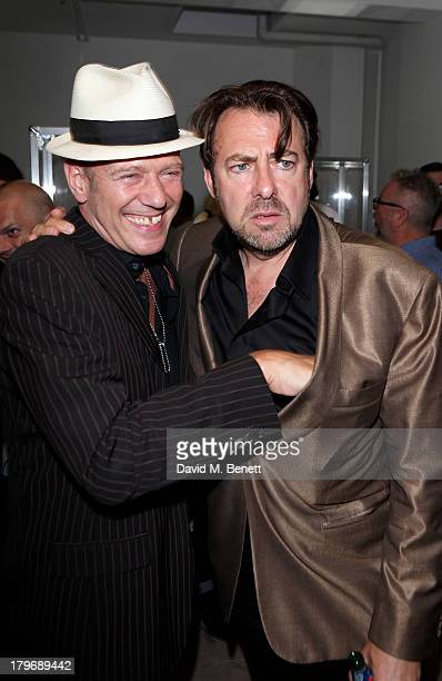 Paul Simonon and Jonathan Ross attend the launch of 'Black Market Clash' an exhibition of personal memorabilia and items curated by original members...
