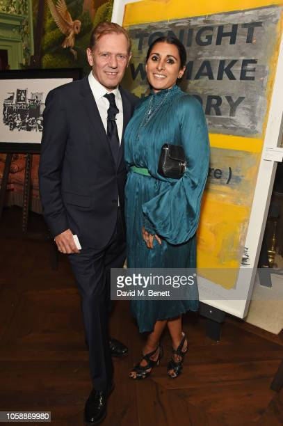 Paul Simonon and Serena Rees attend the Annabel's Art Auction fundraiser in aid of Teenage Cancer Trust Teen Cancer America at Annabel's on November...