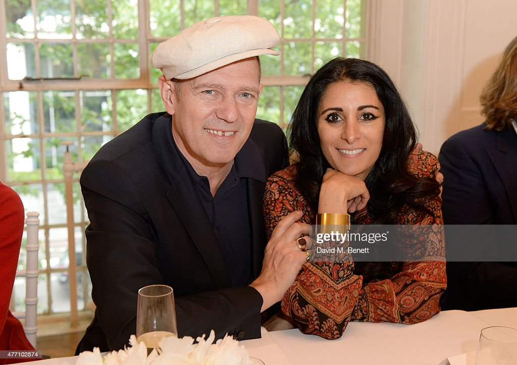 Paul Simonon and Serena Rees attend the brunch for REDA in collaboration with The Woolmark Company and Magnum celebrating 150 years, at One Marylebone on June 14, 2015 in London, England.