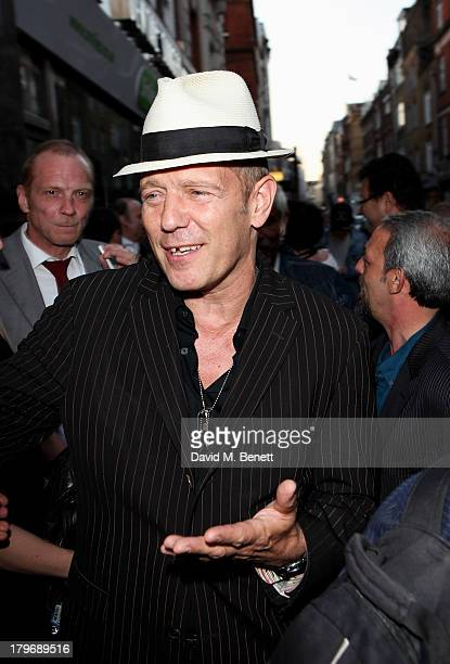 Paul Simonon attends the launch of 'Black Market Clash' an exhibition of personal memorabilia and items curated by original members of The Clash at...
