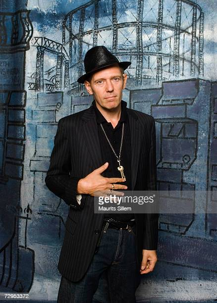 Paul Simonon from the band 'The Good the Bad and the Queen' pose for a studio session at the Tabernacle in Nottinghill on October 6 2006 in London...