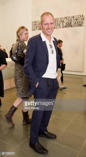Paul Simonon from the Clash attends the Richard Prince 'Continuation' Private View at the Serpentine Gallery on June 25 2008 in London England