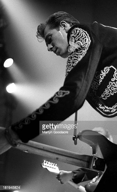 Paul Simonon of Havana 3am performs on stage France 1990