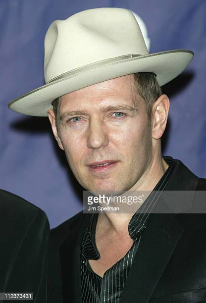 Paul Simonon of the Clash during The 18th Annual Rock and Roll Hall of Fame Induction Ceremony Press Room at The Waldorf Astoria in New York City New...