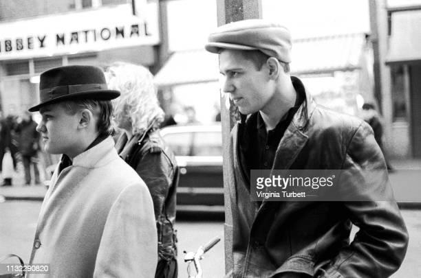 Paul Simonon of The Clash making the film 'Hell W10' in Portobello Road, London, 28th January 1983.