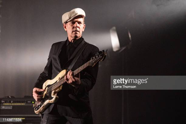 Paul Simonon of The Good The Bad And The Queen performs onstage at London Palladium on April 19, 2019 in London, England.
