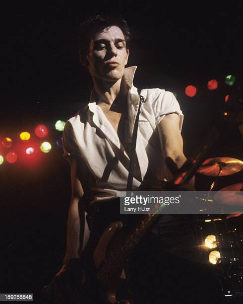 Paul Simonon performing with 'The Clash' at the Warfield theater in San Francisco, on March 3, 1980.