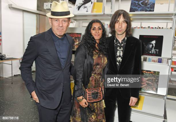 Paul Simonon Serena Rees and Bobby Gillespie attend The Annual Friends Of The Institute of Contemporary Arts dinner honouring Bryan Ferry at The ICA...