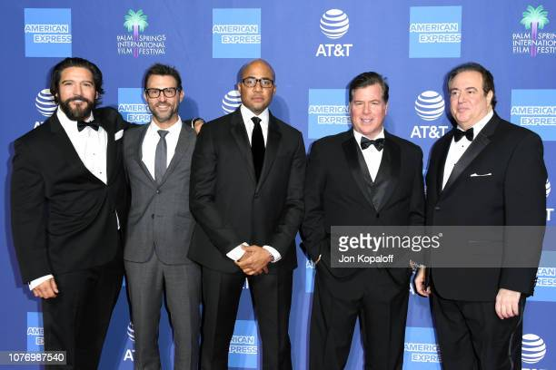 Paul Sloan guest Kwame Parker Brian Currie and Nick Vallelonga attend the 30th Annual Palm Springs International Film Festival Film Awards Gala at...