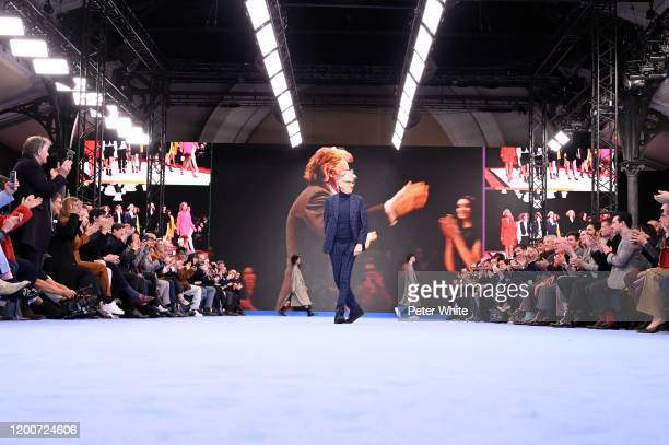 Paul Smith acknowledges the applause of the public after the Paul Smith Menswear Fall/Winter 2020-2021 show as part of Paris Fashion Week on January...
