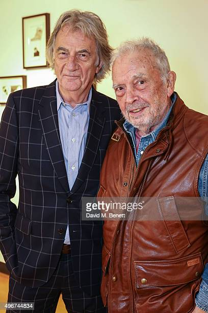 Paul Smith and David Bailey attend the launch of David Bailey's new book 'Tears And Tears' at the Paul Smith Albermarle Street store on November 11...