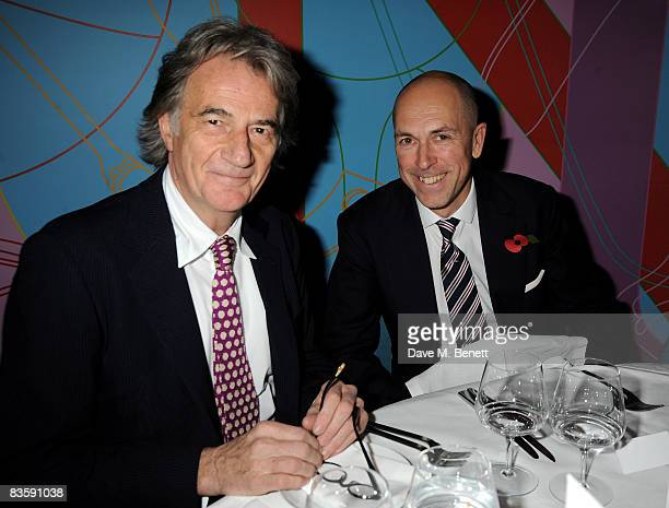 Paul Smith and Dylan Jones attend the GQ 20th Anniversary Party, at St Alban on November 6, 2008 in London, England.
