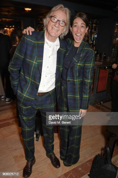 Paul Smith and Laura Jackson attend the Paul Smith Malgosia Bela AW18 Lunch on January 21 2018 in Paris France