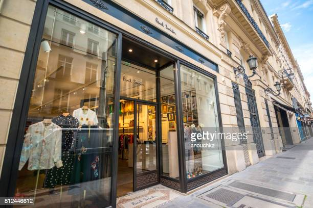 paul smith clothing store in paris, france - paul smith designer label stock photos and pictures