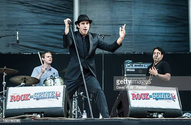 Paul Smith from Maximo Park performs at Rock En Seine Festival 10th Anniversary on August 25 2012 in Paris France