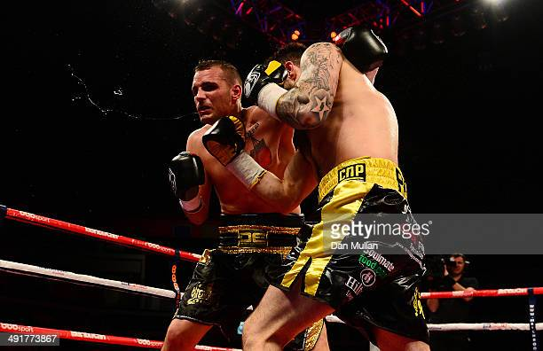 Paul Smith in action against David Sarabia during their Super Middleweight bout at the Motorpoint Arena on May 17 2014 in Cardiff Wales