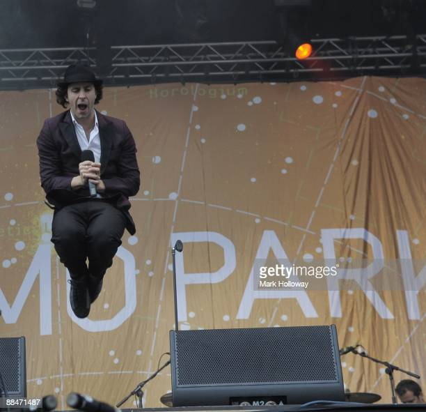 Paul Smith of Maximo Park perform on stage on day 2 of the Isle Of Wight Festival at Seaclose Park on June 13 2009 in Newport Isle of Wight