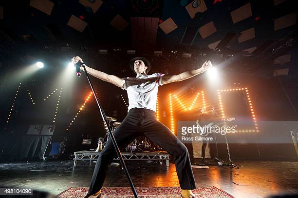 Paul Smith of Maximo Park performs at Barrowlands Ballroom on November 20 2015 in Glasgow Scotland