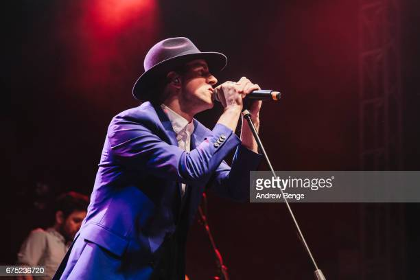 Paul Smith of Maximo Park performs during Live At Leeds on April 30 2017 in Leeds England Live At Leeds is a music festival that takes place across...