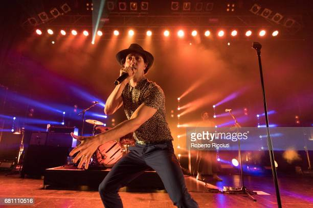 Paul Smith of Maximo Park performs on stage at O2 ABC Glasgow on May 9, 2017 in Glasgow, Scotland.