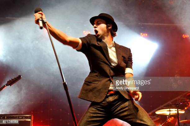 Paul Smith of Maximo Park performs on stage on Day 2 of BBC Radio 1's Big Weekend at Lydiard Park on May 10 2009 in Swindon England