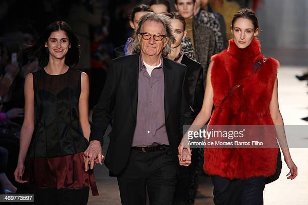 Paul Smith walks the runway at the Paul Smith show at London Fashion Week AW14 at on February 16 2014 in London England