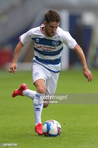 Paul Smyth of Queens Park Rangers runs with the ball during the PreSeason Friendly between Queens Park Rangers and AFC Wimbledon at The Kiyan Prince...