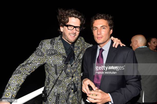 Paul Solberg and Fabian Basabe attend the Galerie Gmurzynska Dinner in Honor of Jean Pigozzi at the Penthouse at the Faena Hotel Miami Beach on...