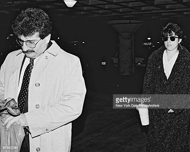 Paul Solomon leaves Westchester County Courthouse followed by his daughter Kristen Solomon after she testified against Carolyn Warmus the teacher who...