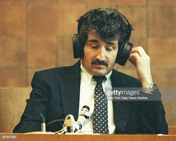 Paul Solomon whose wife Betty Jean Solomon was murder by his lover Carolyn Warmus testifies at Westchester County Courthouse in the 'Fatal Attraction...