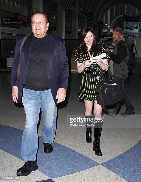 Paul Sorvino and Dee Dee Benkie seen at LAX on February 16 2015 in Los Angeles California