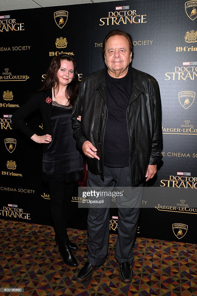 Paul Sorvino (R) and guest attend a screening of Marvel Studios' 'Doctor Strange', hosted by Lamborghini with The Cinema Society, Jaeger-LeCoultre, and 19 Crimes Wines, at AMC Empire on November 1, 2016 in New York City.